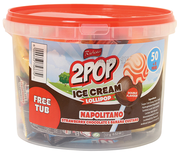 Richester 2 Pop Ice Cream Lollipops 55s Napolitano